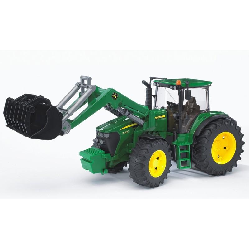 Tracteur john deere 7930 avec fourche bruder bru03051 tracteur avec chargeur bruder minitoys - Tracteur avec fourche ...