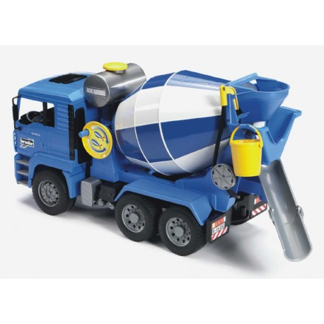 Camion-ciment-Man-bleu