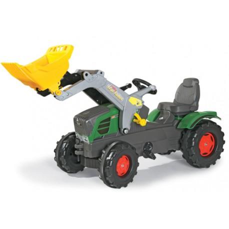 Tracteur-Fendt-211-avec-pelle-avant