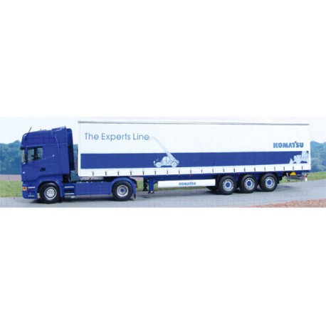 Camion-Scania-décor-Komatsu