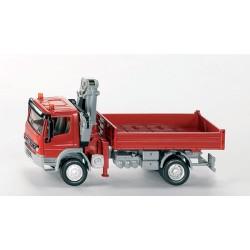 Camion-Mercedes-avec-plateau-et-grue