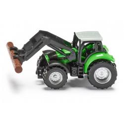 Tracteur Deutz avec pince à bois - Siku 1380