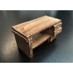 Etabli / bureau en bois 1/32 - AT-Collections