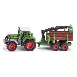 Tracteur Fendt avec remorque forestière - Siku