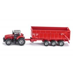 Tracteur-Massey-Ferguson-8480-avec-benne
