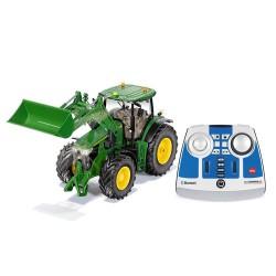 Tracteur JD 7310R avec chargeur RC + télécommande + Bluetooth - Siku