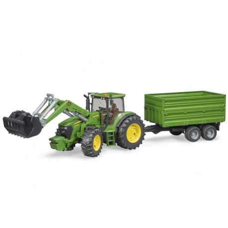 Tracteur-JD-7930-avec-chargeur-et-benne