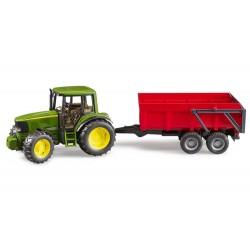 Tracteur John Deere 6920 avec benne rouge - Bruder