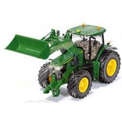 Tracteur JD 7310R avec chargeur RC Bluetooth - Siku