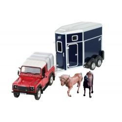 Coffret Land Rover et ses chevaux - Britains
