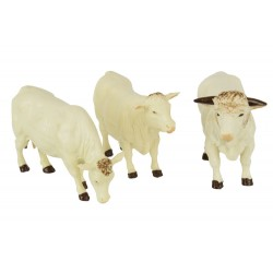 Lot de 3 vaches charolaises - Britains