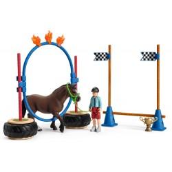 Course d'agility pour poney - Schleich