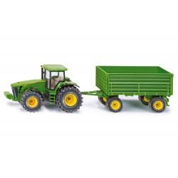 Tracteur John Deere 8430 avec remorque - Siku
