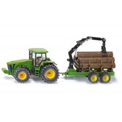 Tracteur-John-Deere-8430-avec-remorque-forestière