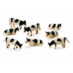 Set de 8 vaches noires et blanches - Kids Globe