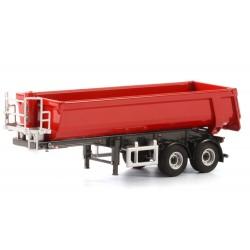 Semi-remorque benne TP rouge 2 essieux - WSI