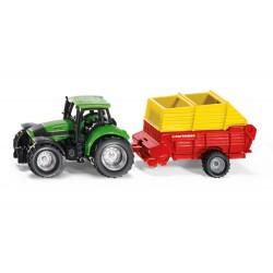 Tracteur Deutz avec remorque Pottinger