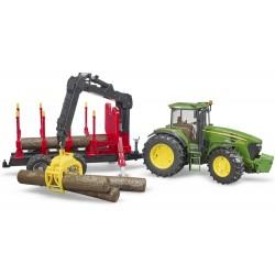 Tracteur JD 7930 avec remorque forestière - Bruder