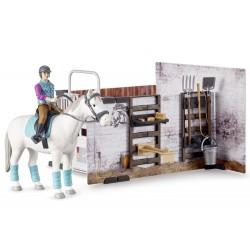 Set écurie bworld avec cheval et accessoires - Bruder