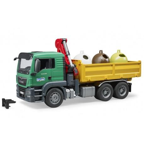 Camion Man avec conteneurs de recyclage - Bruder