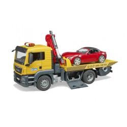 Camion dépannage Man avec voiture Roadster - Bruder