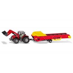 Tracteur MF avec tapis élévateur - Siku