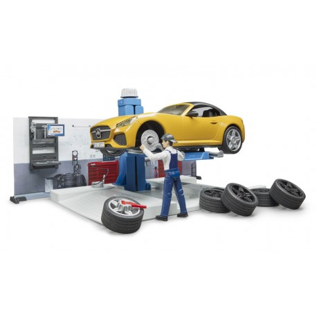Set atelier automobile Bworld - Bruder