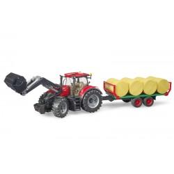 Tracteur Case IH Optum 300 CVX avec plateau à paille - Bruder