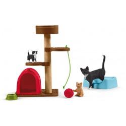 Aire de jeu pour chats adorables - Schleich