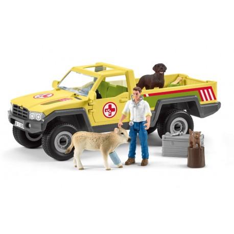 Visite du vétérinaire à la ferme - Schleich