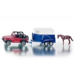 Jeep Wrangler avec Van et cheval - Siku