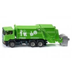 Camion poubelle 1/87 vert - Siku