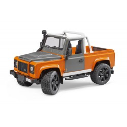 4x4 Land Rover Defender Pick-Up orange - Bruder