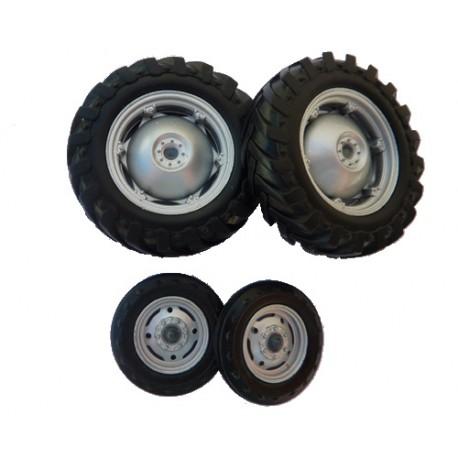 jeu de roues de tracteur massey ferguson 135 pd4064 roues miniatures universal hobbies minitoys. Black Bedroom Furniture Sets. Home Design Ideas