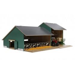 Stabulation avec bâtiment de stockage en bois - Kids Globe