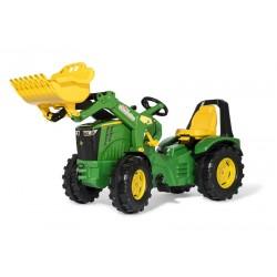 Tracteur X-Trac premium JD 8400R avec chargeur- Rollytoys