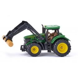 Tracteur John Deere avec pince à bois - Siku