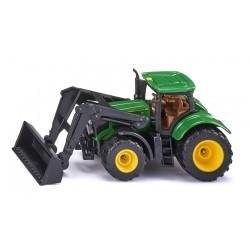 Tracteur JD 6215R avec chargeur frontal- Siku