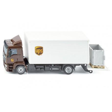 Camion MAN porte-caisse avec hayon élévateur UPS -Siku