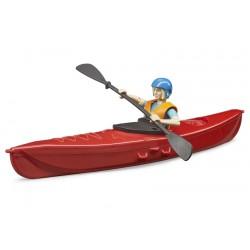 Kayak bworld avec figurine - Bruder