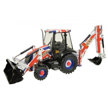 Tractopelle JCB 3CX Union Jack Decal - Britains