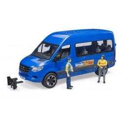 Navette de transport MB Sprinter Transfer avec figurines - Bruder 02670