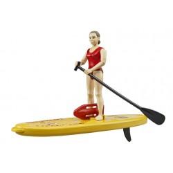 Sauveteur Bworld avec paddle et accessoires - Bruder - 62785