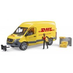 Camion DHL MB Sprinter avec conducteur et accessoires - Bruder - 02671