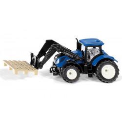 Tracteur New Holland T7 avec fourches et palette - SIKU
