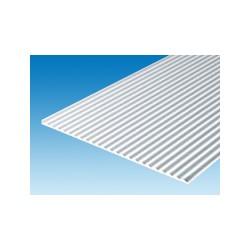 Plaque ondulée 150 x 300 mm ep. 1 mm ecart. 2,5 x 0,83 mm