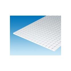 Plaque quadrillée rainures étroites 150x300 ep. 1 mm 6,3 mm