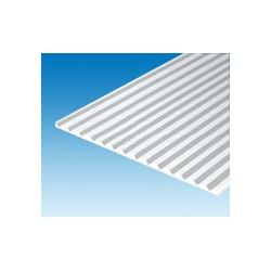 Plaque rainurée en V 150x300 mm ep. 1 mm ecart. 6,3 mm