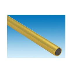 Tube rond en laiton L. 300 x Dia. 14,28 mm