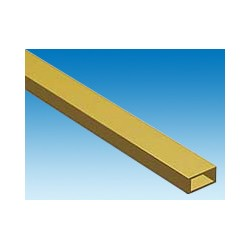 Tube rectangulaire en laiton L. 300 x 7,94 x 3,97 mm